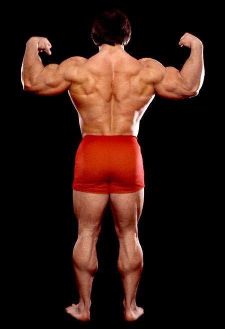 Casey Viator Posing In Red Shorts