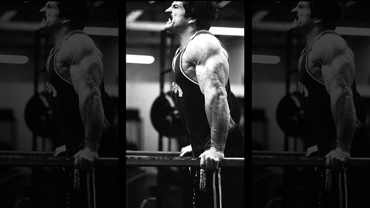 TMike Mentzer Doing Negative Dips